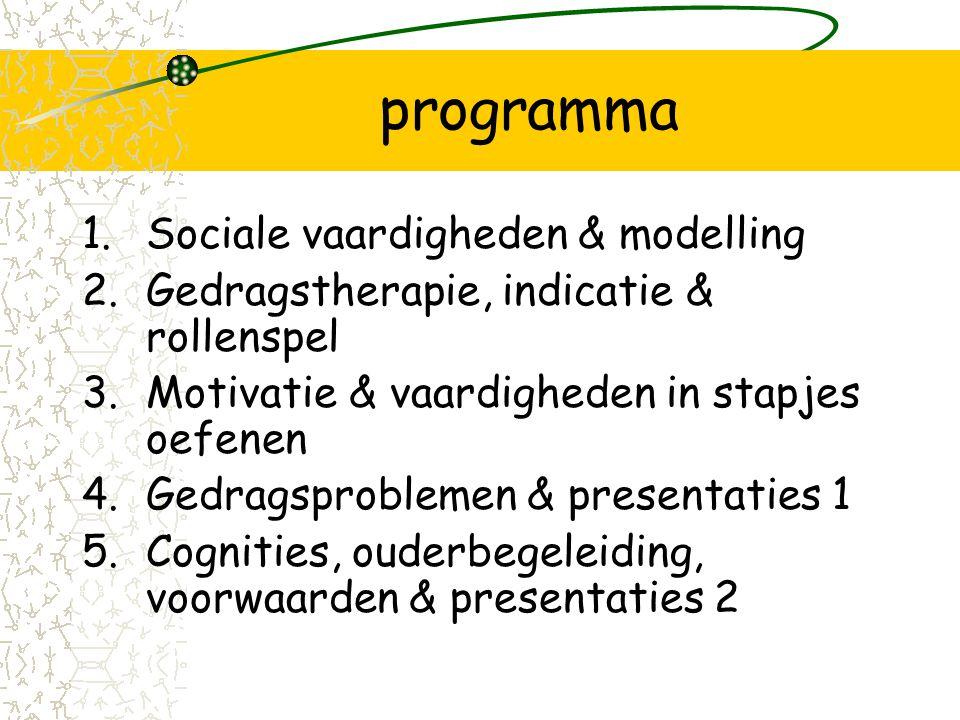 programma Sociale vaardigheden & modelling