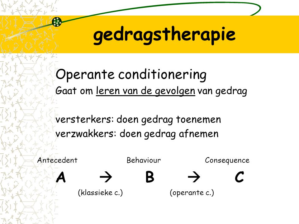 gedragstherapie Operante conditionering