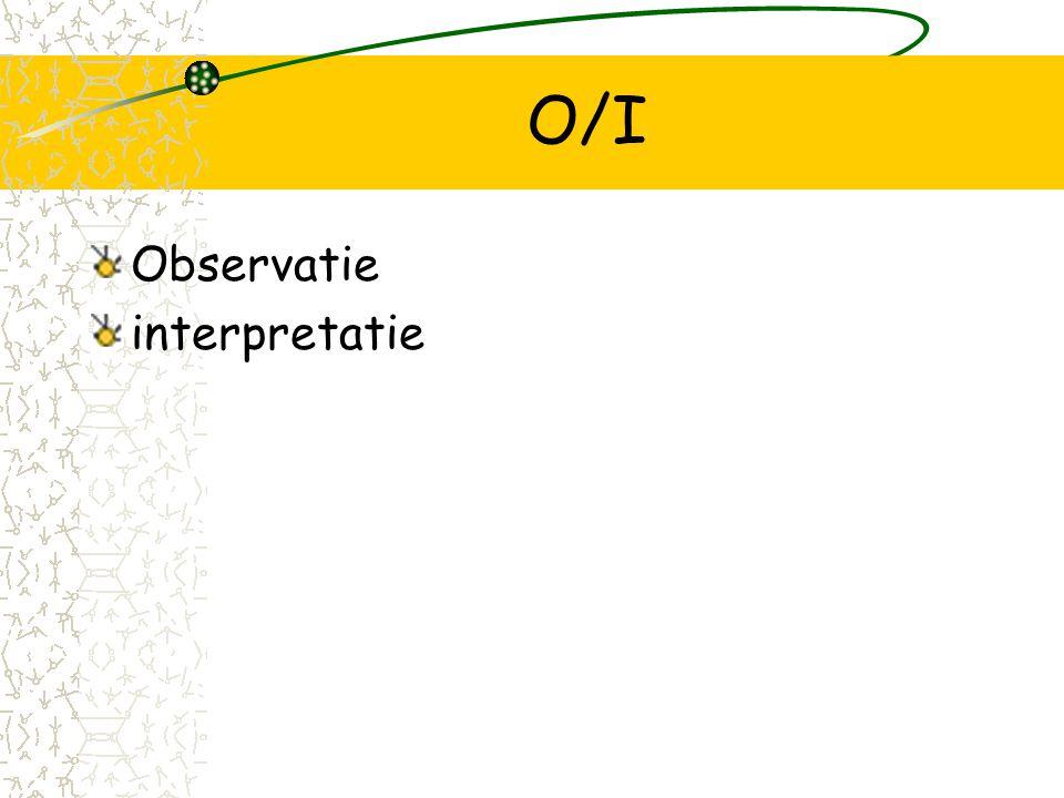 O/I Observatie interpretatie