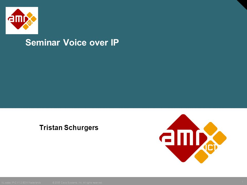Seminar Voice over IP Tristan Schurgers