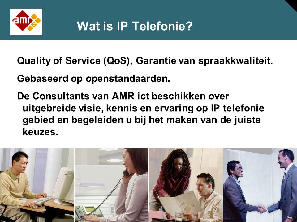 Wat is IP Telefonie Quality of Service (QoS), Garantie van spraakkwaliteit. Gebaseerd op openstandaarden.