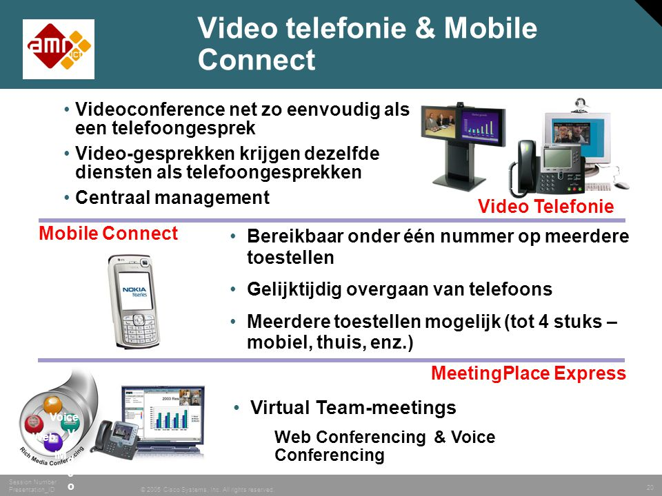 Video telefonie & Mobile Connect