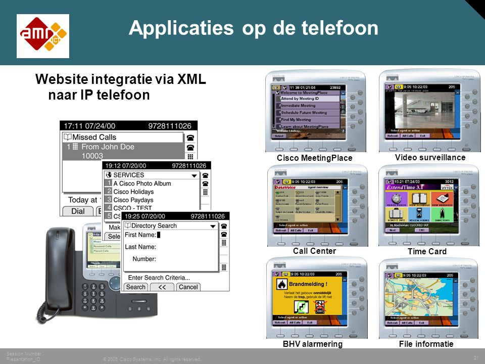 Applicaties op de telefoon