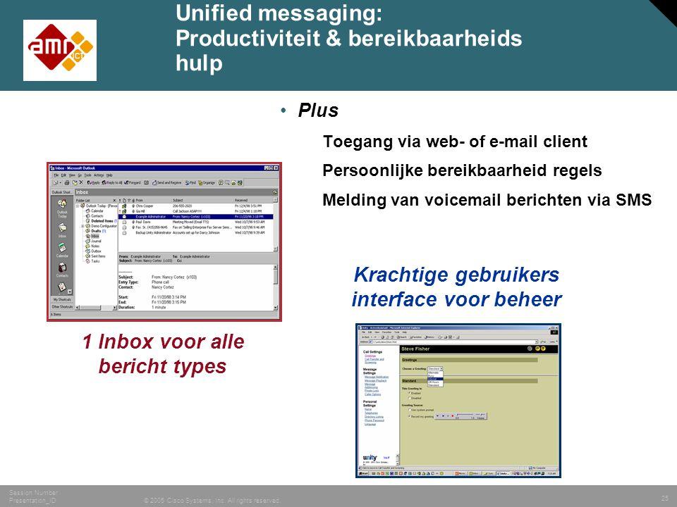 Unified messaging: Productiviteit & bereikbaarheids hulp