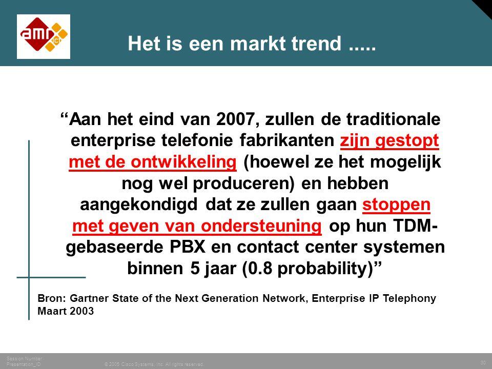 Het is een markt trend .....