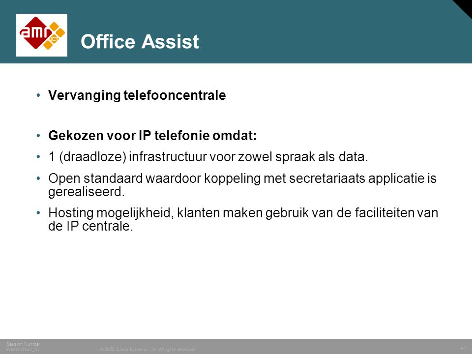 Office Assist Vervanging telefooncentrale