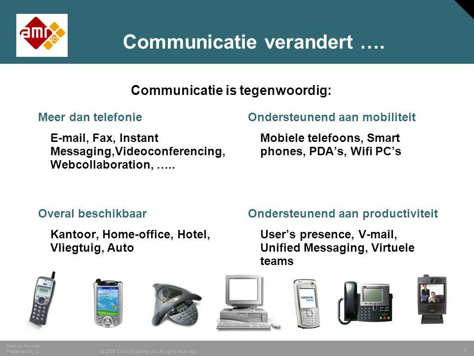Communicatie verandert ….