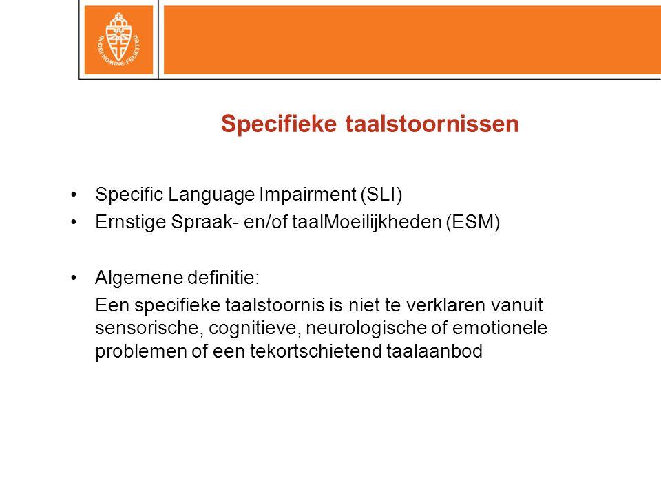 Specifieke taalstoornissen