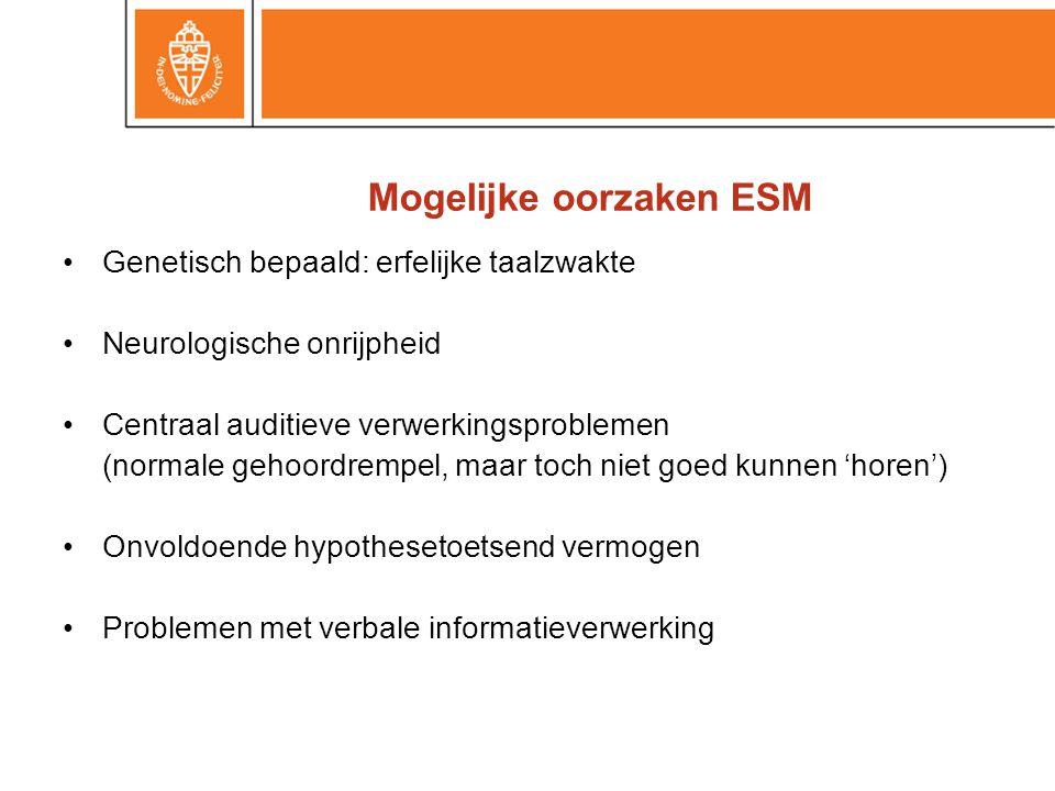 Mogelijke oorzaken ESM