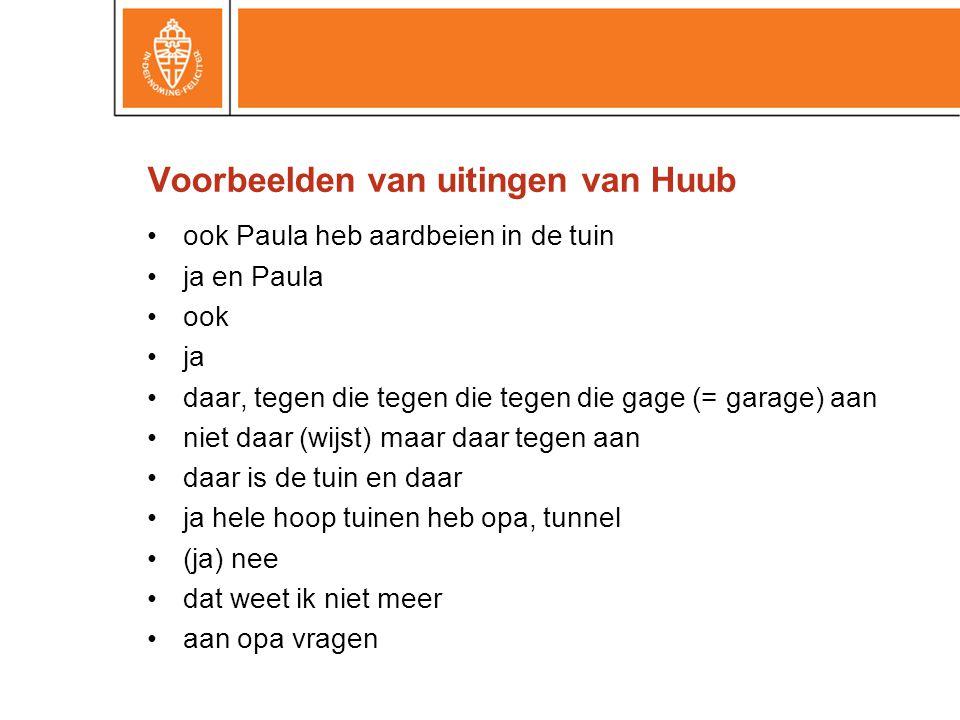 Voorbeelden van uitingen van Huub