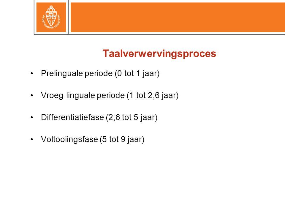 Taalverwervingsproces