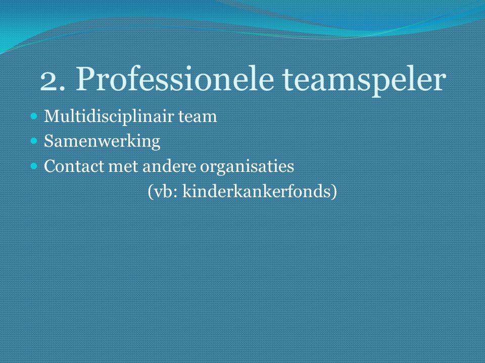 2. Professionele teamspeler