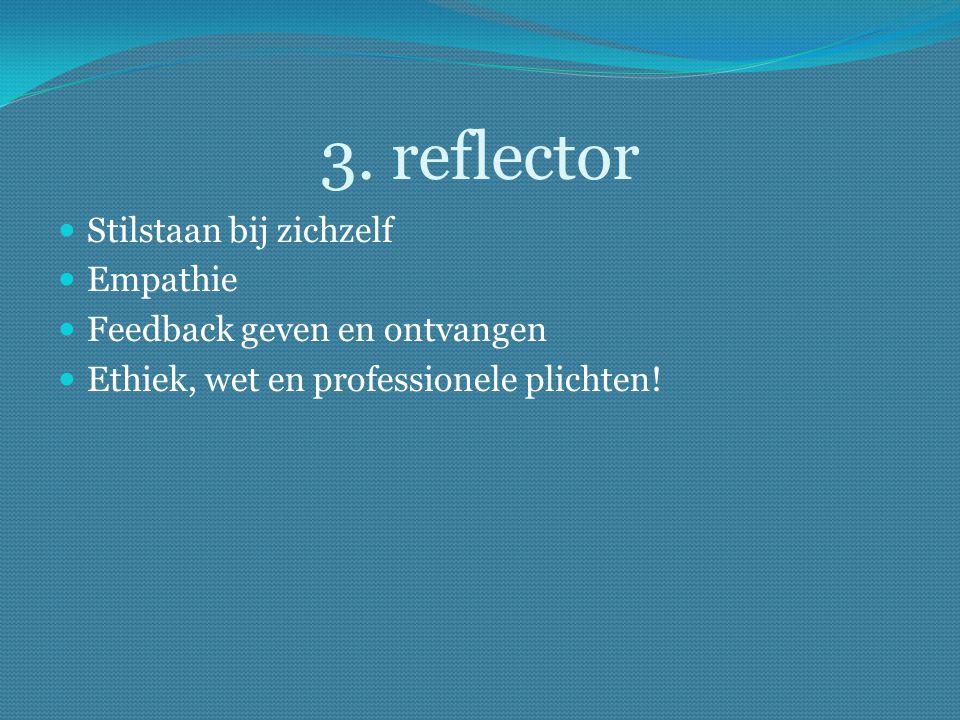 3. reflector Stilstaan bij zichzelf Empathie