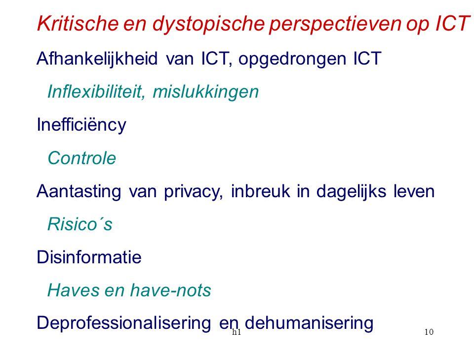 Kritische en dystopische perspectieven op ICT
