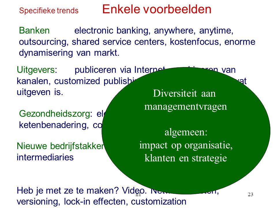 Diversiteit aan managementvragen algemeen: impact op organisatie,