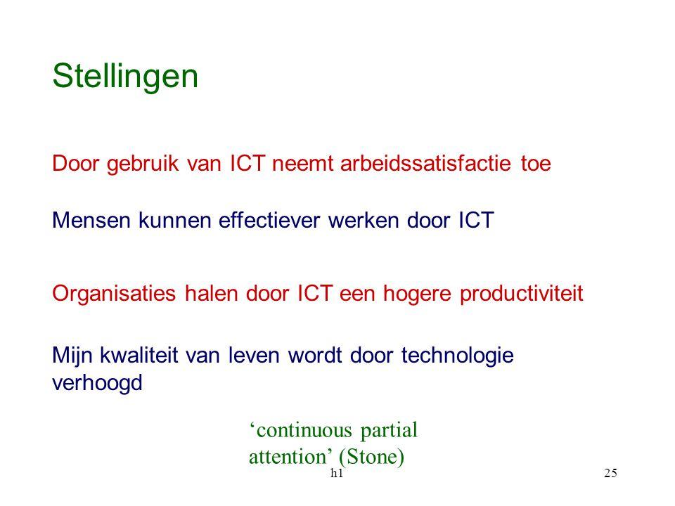 Stellingen Door gebruik van ICT neemt arbeidssatisfactie toe