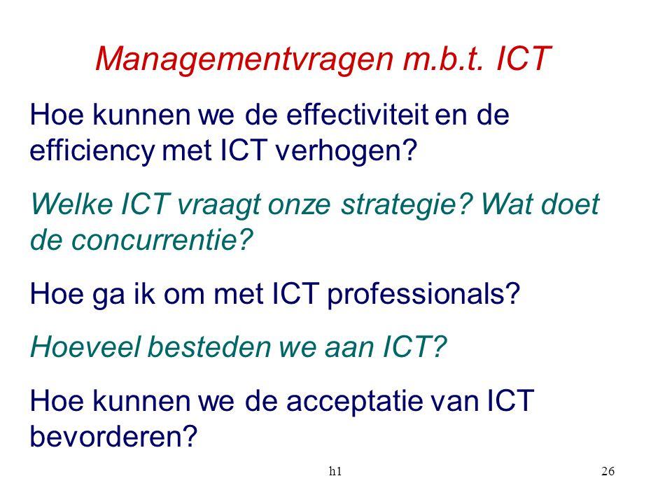 Managementvragen m.b.t. ICT
