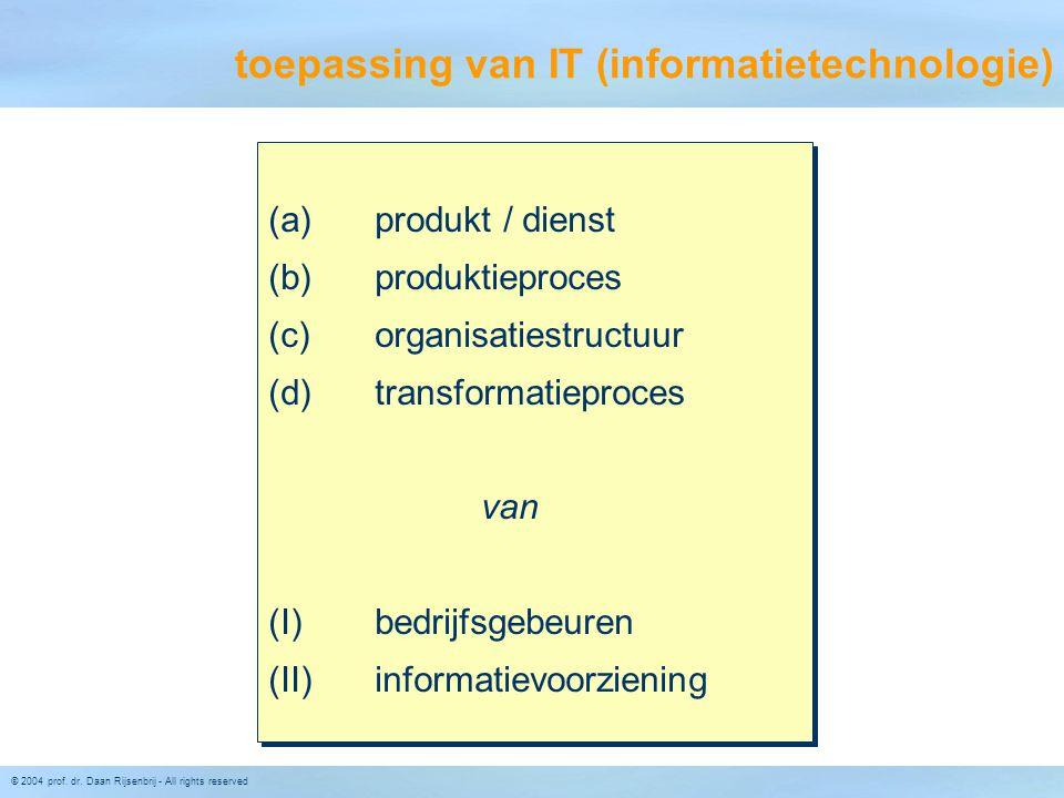 toepassing van IT (informatietechnologie)