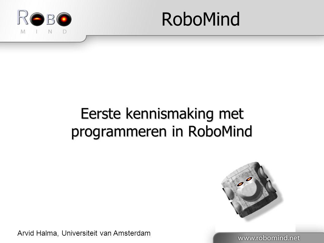 Eerste kennismaking met programmeren in RoboMind