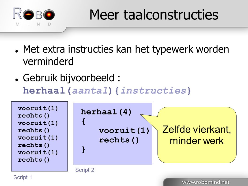 Meer taalconstructies