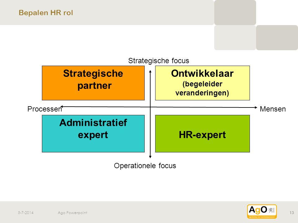 Ontwikkelaar (begeleider veranderingen) Administratief expert