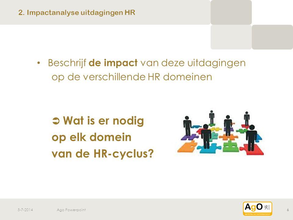 2. Impactanalyse uitdagingen HR
