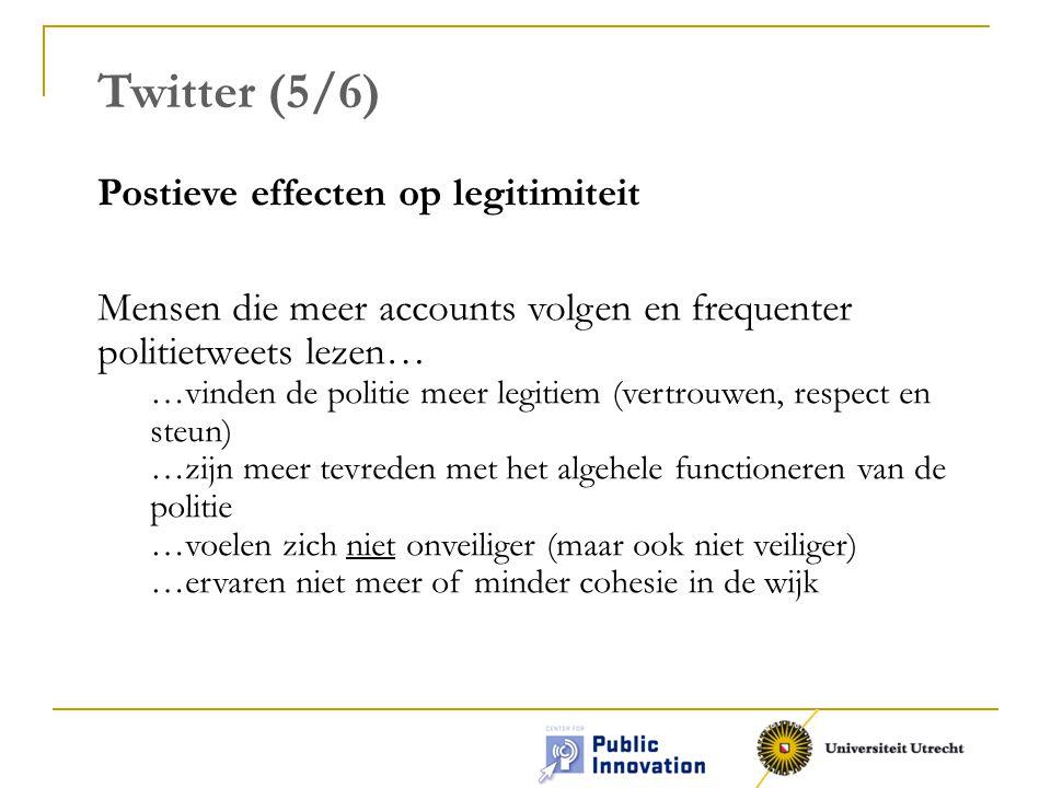 Twitter (5/6) Postieve effecten op legitimiteit