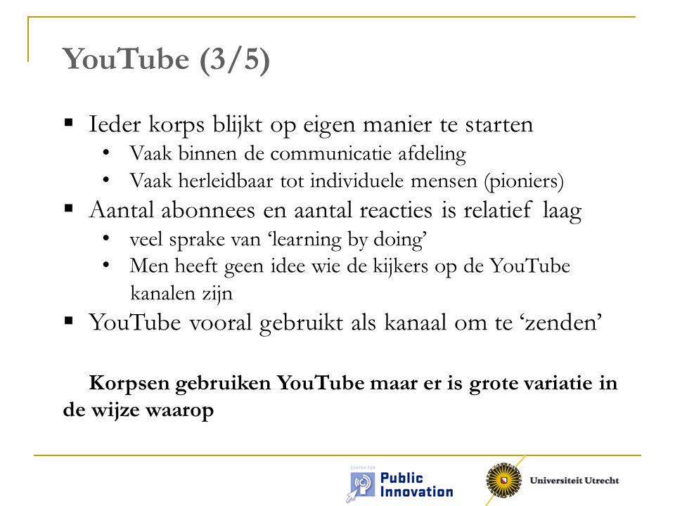 YouTube (3/5) Ieder korps blijkt op eigen manier te starten