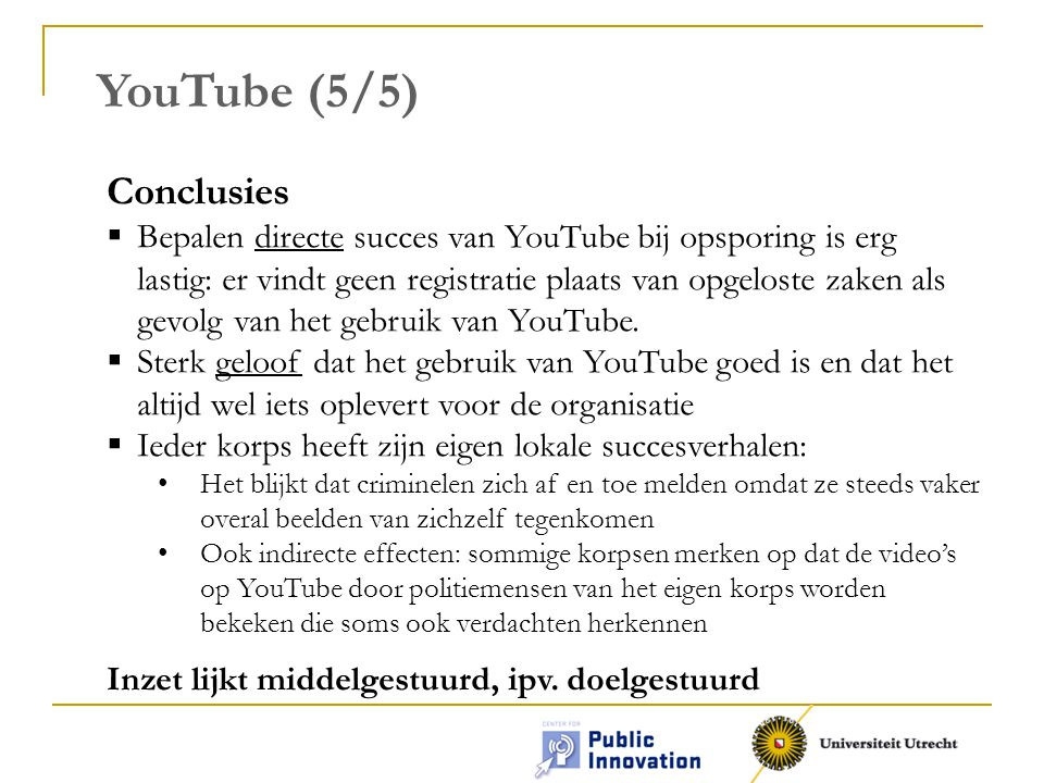 YouTube (5/5) Conclusies