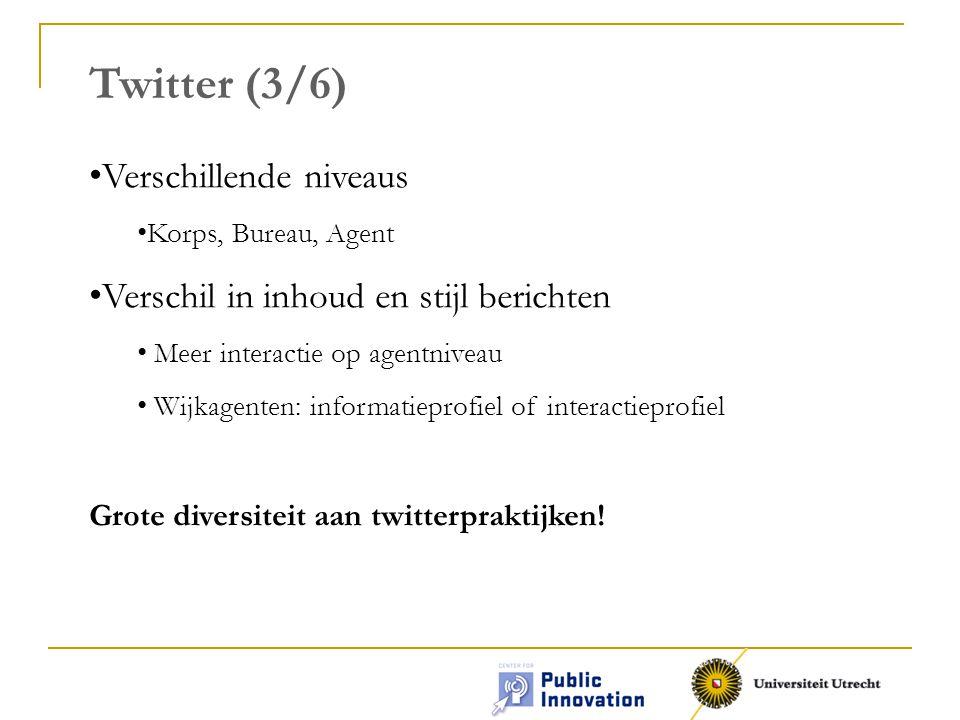 Twitter (3/6) Verschillende niveaus