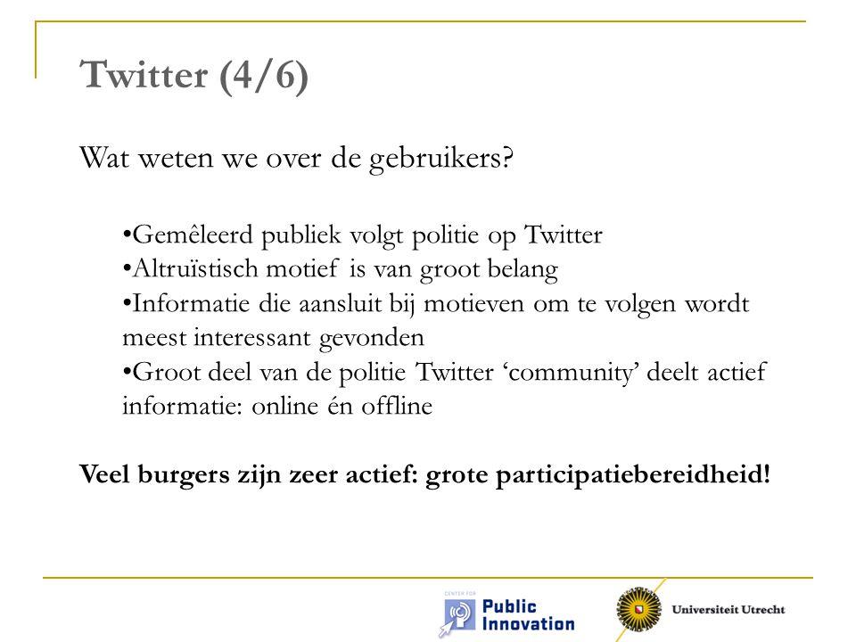 Twitter (4/6) Wat weten we over de gebruikers