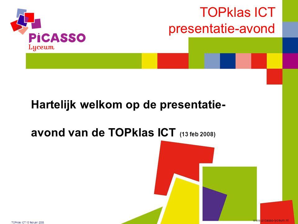 TOPklas ICT presentatie-avond Hartelijk welkom op de presentatie-