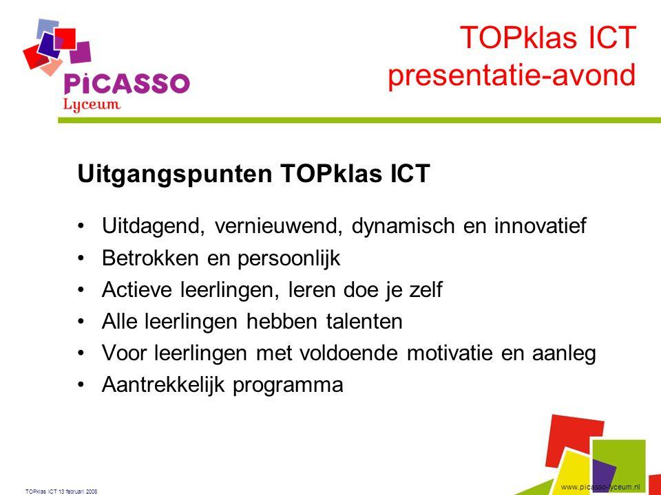 TOPklas ICT presentatie-avond Uitgangspunten TOPklas ICT