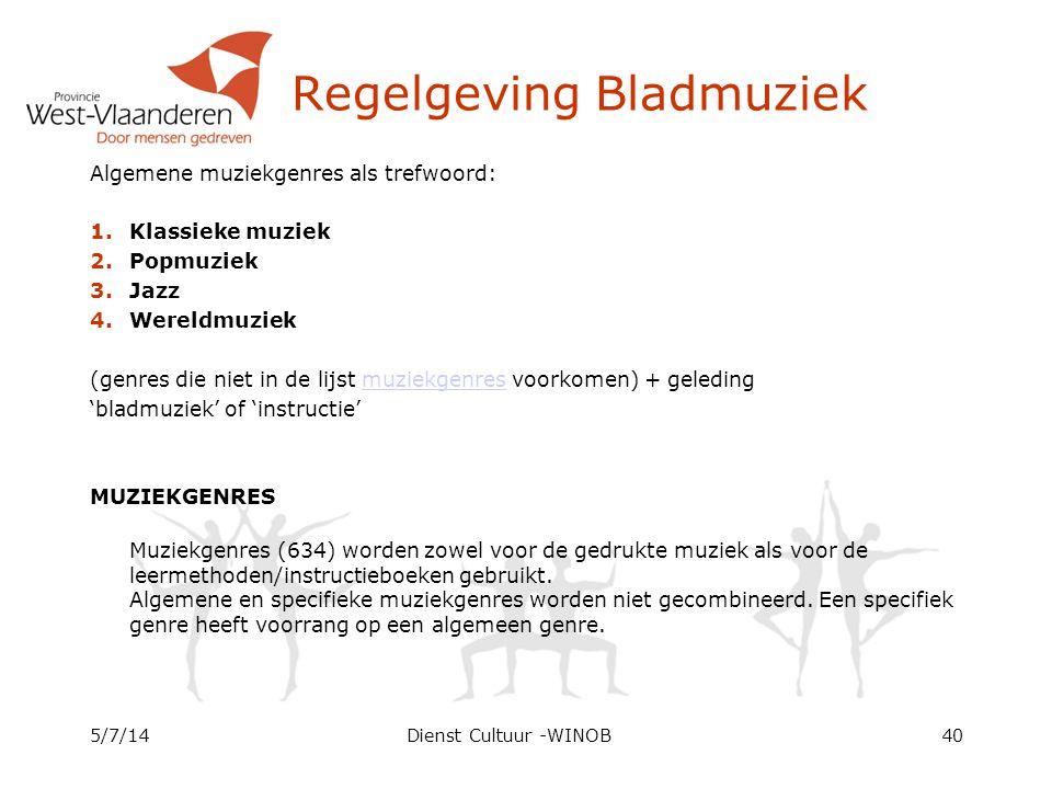 Regelgeving Bladmuziek