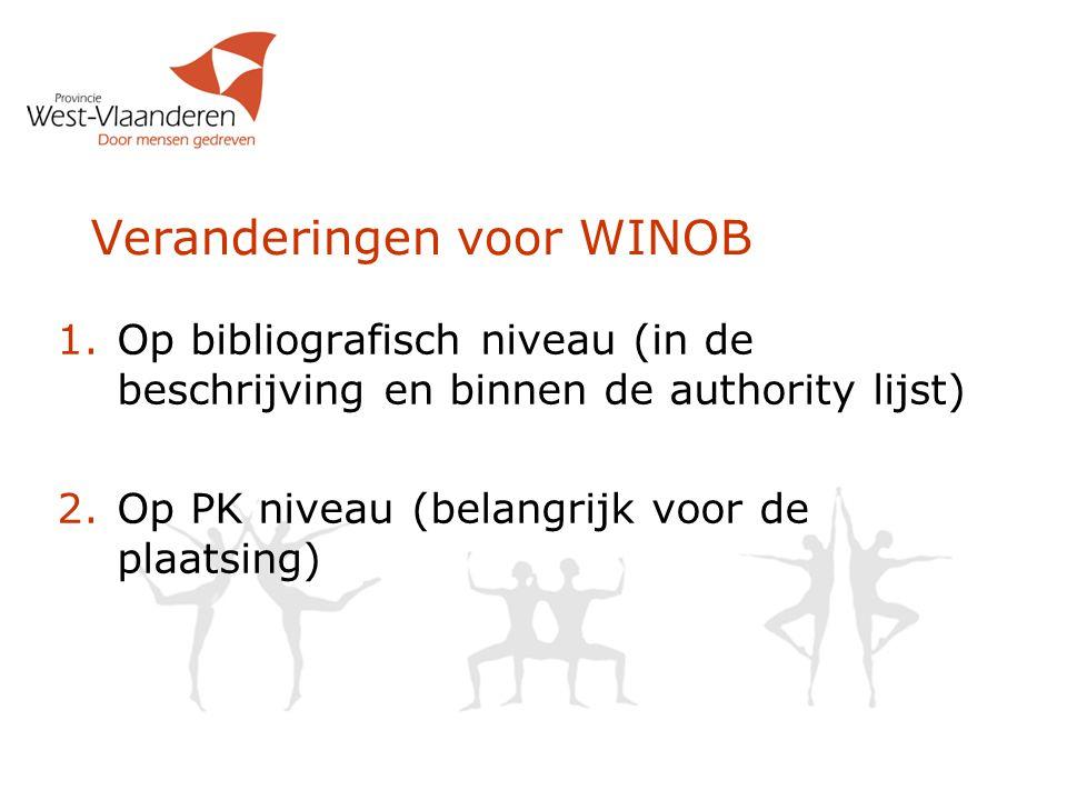 Veranderingen voor WINOB