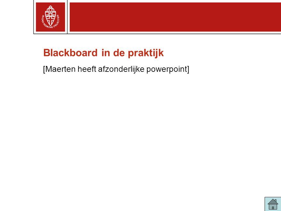 Blackboard in de praktijk