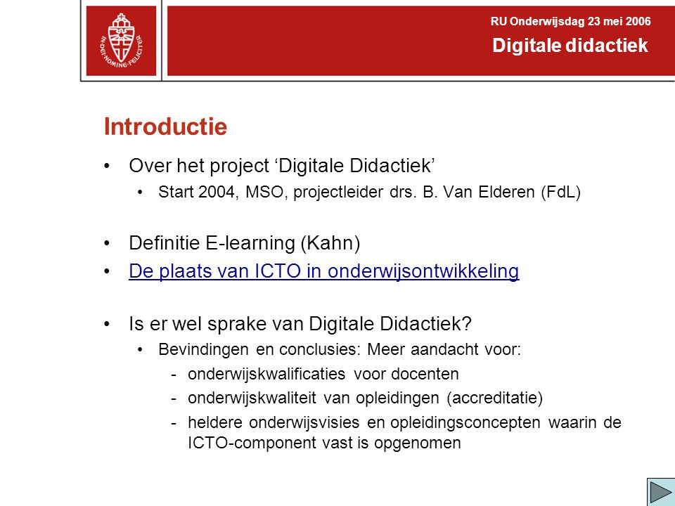 Introductie Over het project 'Digitale Didactiek'