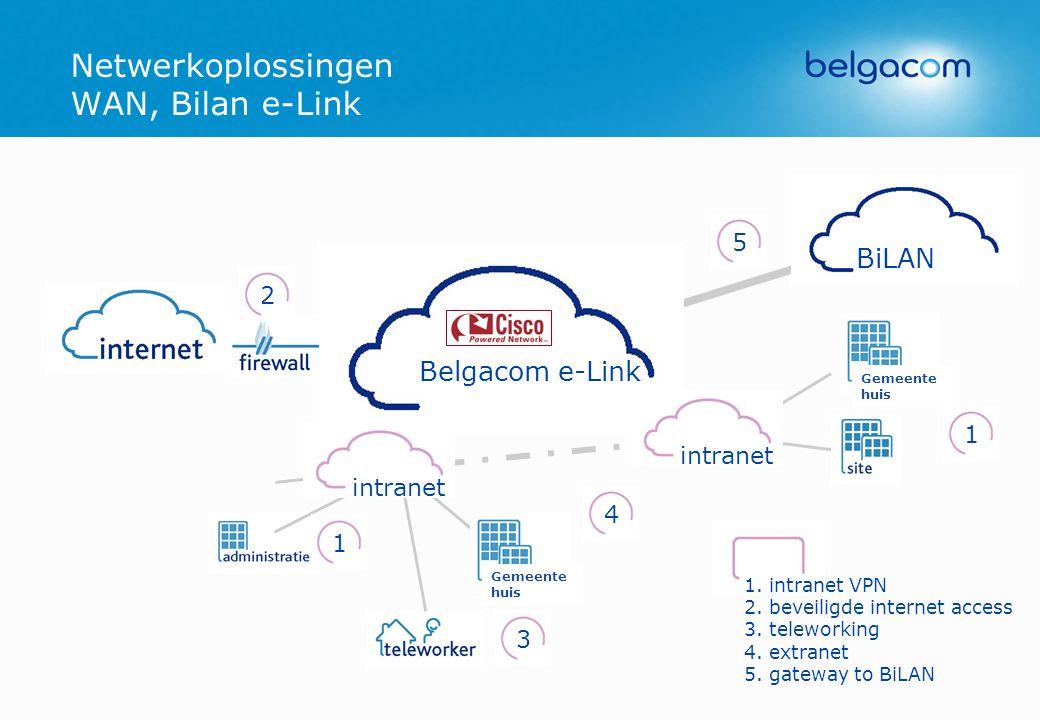 Netwerkoplossingen WAN, Bilan e-Link