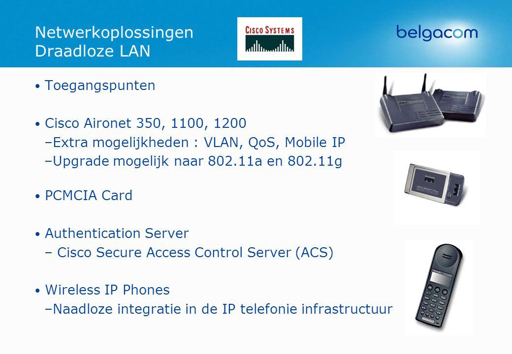 Netwerkoplossingen Draadloze LAN