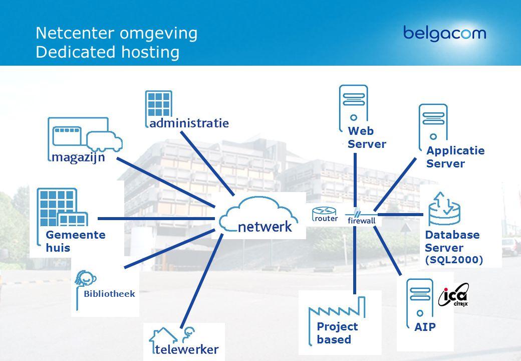 Netcenter omgeving Dedicated hosting