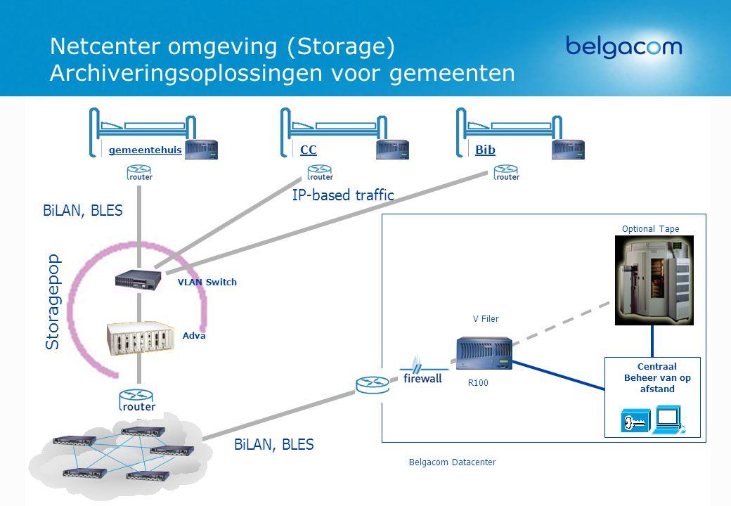 Netcenter omgeving (Storage) Archiveringsoplossingen voor gemeenten