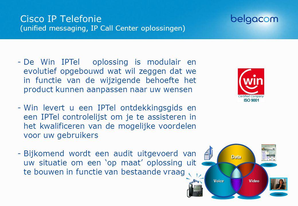 Cisco IP Telefonie (unified messaging, IP Call Center oplossingen)