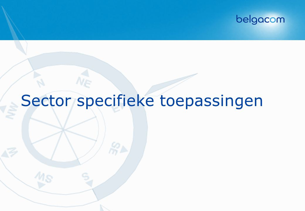 Sector specifieke toepassingen