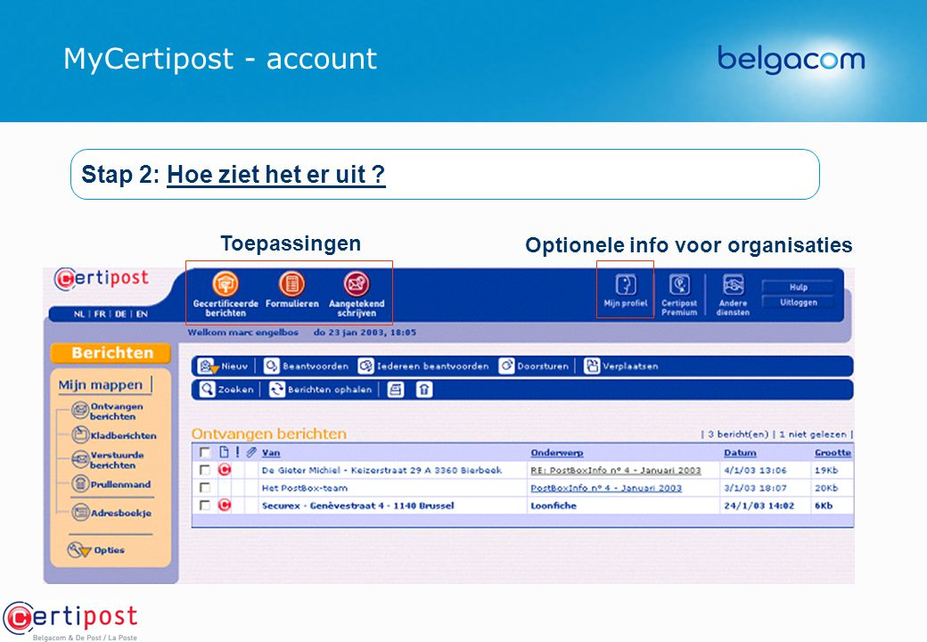 Optionele info voor organisaties