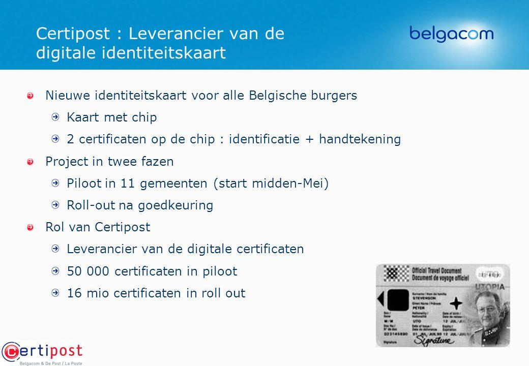 Certipost : Leverancier van de digitale identiteitskaart