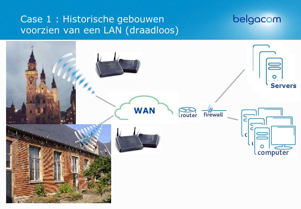 Case 1 : Historische gebouwen voorzien van een LAN (draadloos)