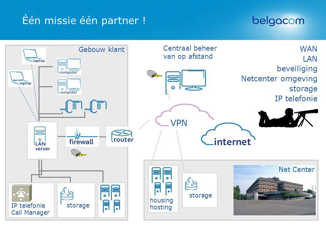 Één missie één partner ! VPN WAN LAN beveiliging Netcenter omgeving