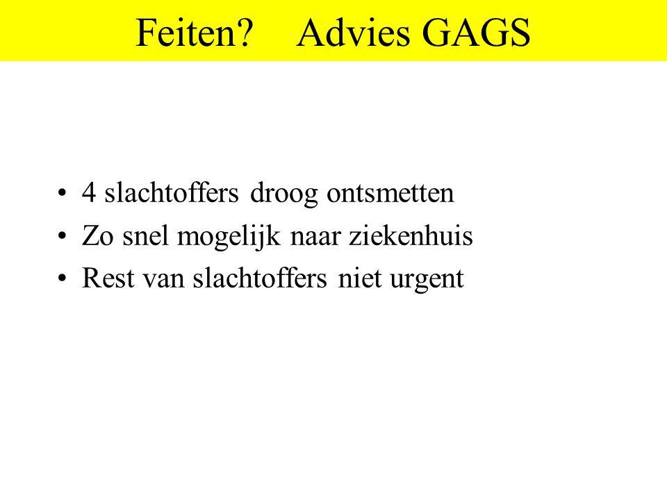 Feiten Advies GAGS 4 slachtoffers droog ontsmetten