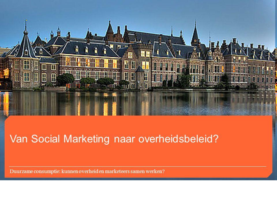 Van Social Marketing naar overheidsbeleid