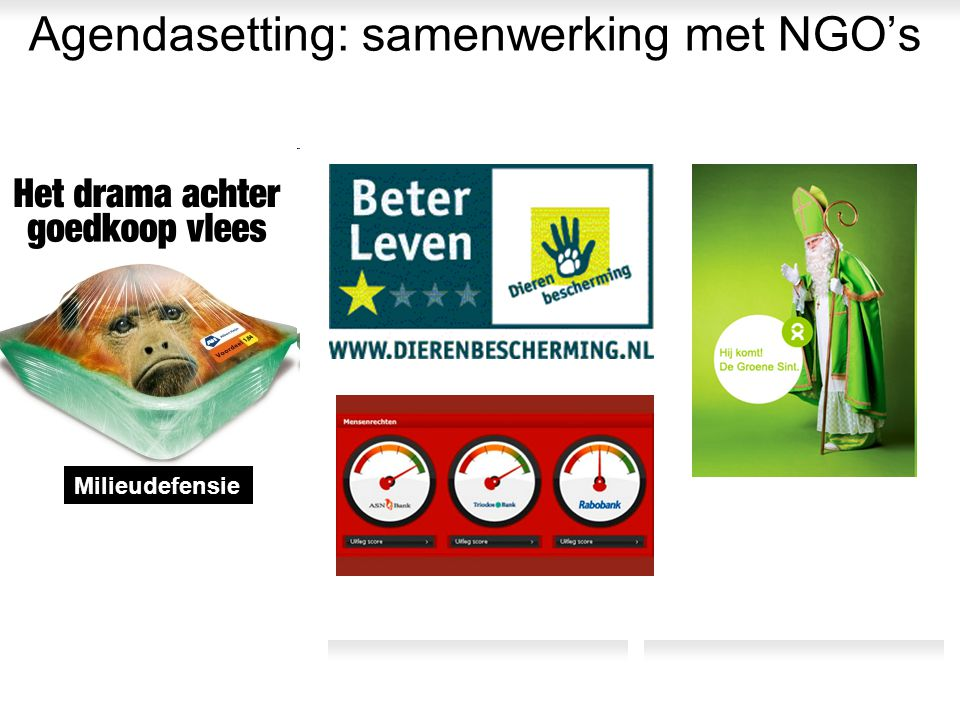 Agendasetting: samenwerking met NGO's